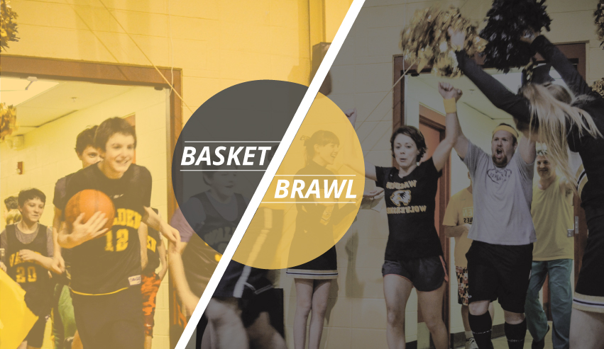 faculty/staff vs. student basketbrawl game monday, february 20 at 7:00pm