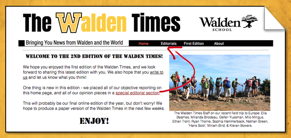 THE Walden Times: 2nd edition Check out The official student newspaper!