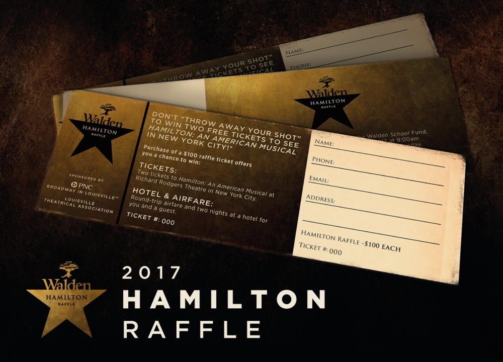 Walden Hamilton raffle: March 13 - 30 tickets available: Win a Trip to see Hamilton!