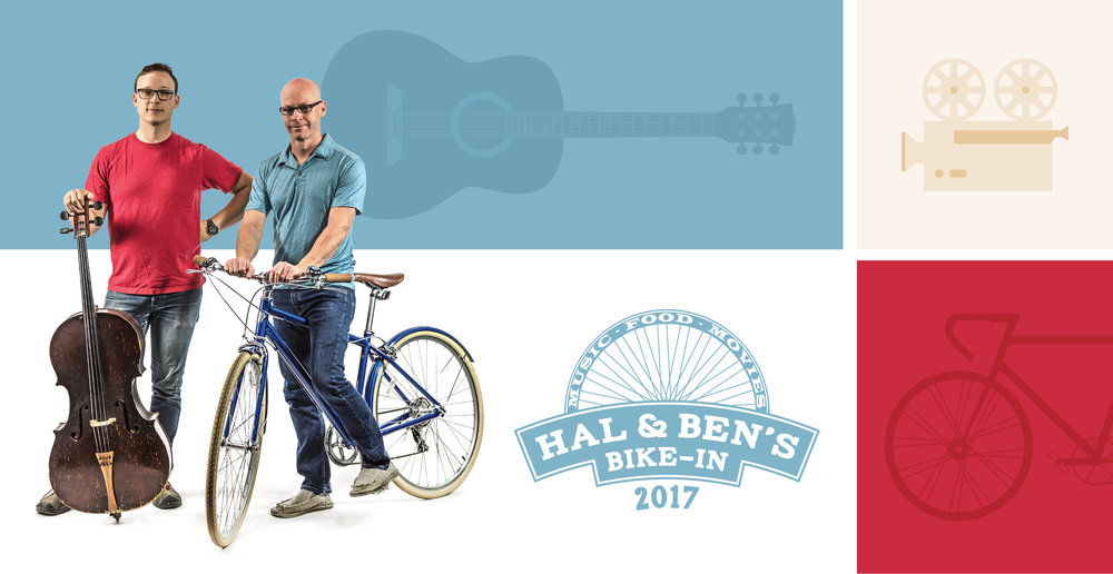 Hal & Ben's Bike-In - Saturday, may 13 cycling, music, food and more! - RSVP