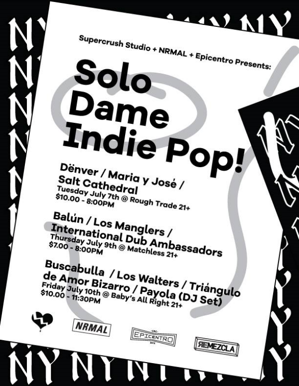 Solo Dame Indie Pop Lineup - julio 2015.