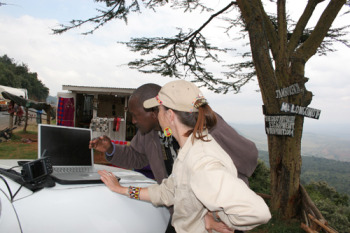 Working with African Conservation Centre in Kenya on mapping the first South Rift Adventure Safari route using donated Garmin GPS and computer.