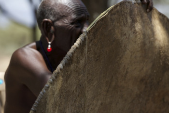 Blood and Leather—re-creating the Maasai war shield