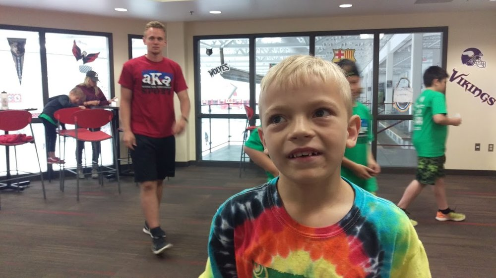 "This is Jack's 3rd summer at AKA Coon Rapids.  Jack, tell us, what do you like about AKA.  (Long deep thought out pause....)  ""Free Play and the Field Trips!""  .....and I'm told the card games with the Staff!"