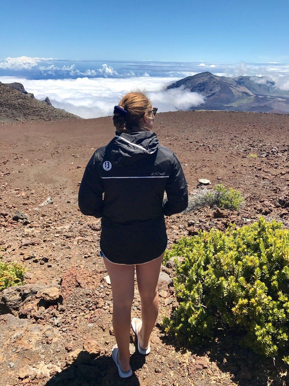 Hiking, 10,00 Feet Up In Haleakala Volcano Maui