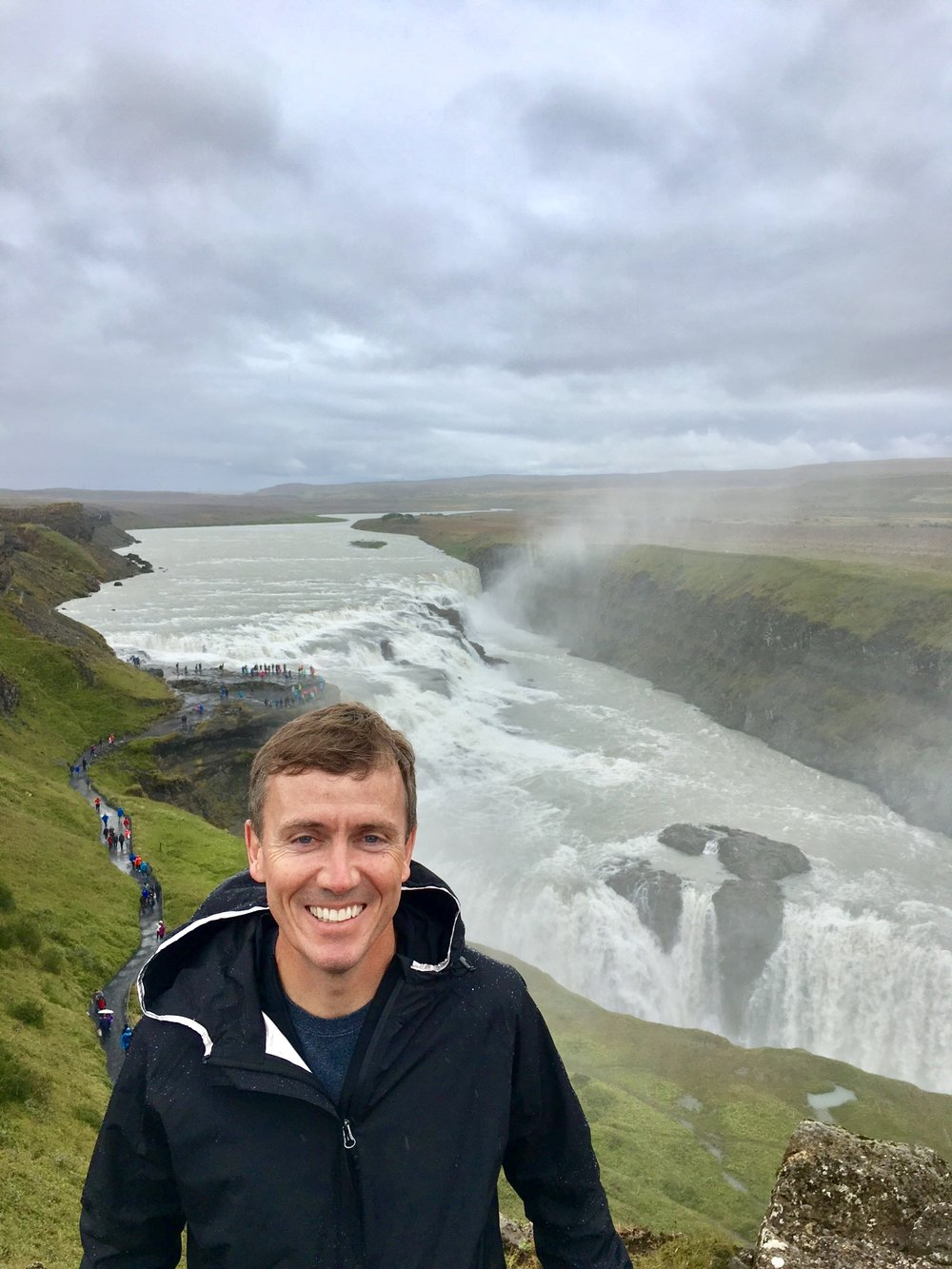 Amazed By Gullfoss Waterfall,  Southwest Corner Of Iceland