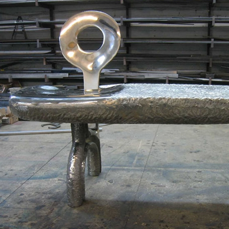 Cast aluminum bench