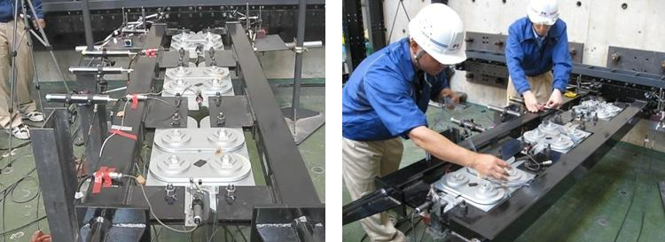 Testing of wall Damper, Japan
