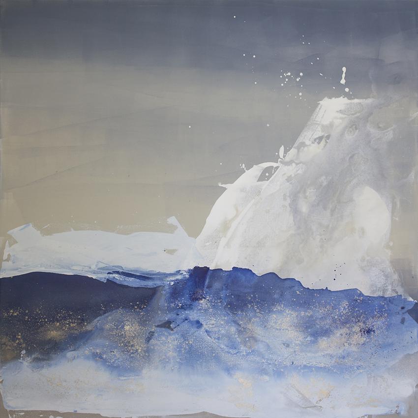 """Neptune, Julia C.;  48""""x48"""", acrylic"""