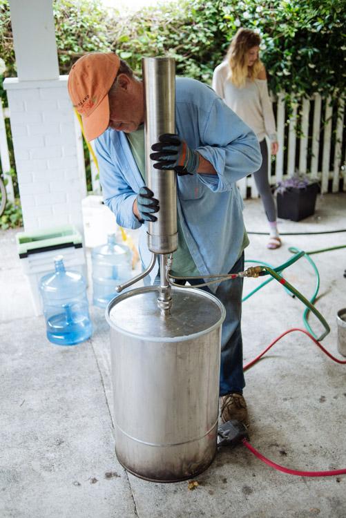 Distilling Oil
