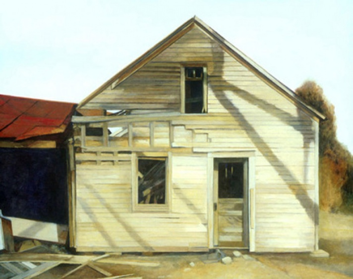 """Settle-Dean Cabin"" by Sherry Zvares Sanabria."