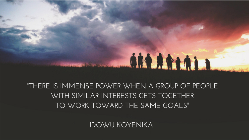 -THERE IS IMMENSE POWER WHEN A GROUP OF PEOPLE WITH SIMILAR INTERESTS GETS TOGETHER TO WORK TOWARD THE SAME GOALS-IDOWU KOYENIKA.jpg