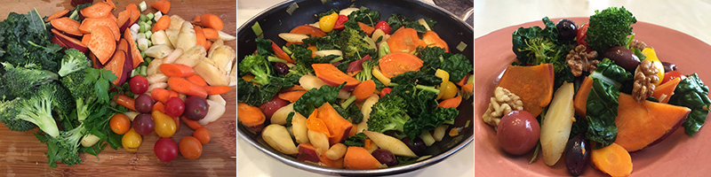 EXPERIENCE NUTRITION Simple Roots & Greens Stir-fry