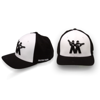 MUSIC MAN HAT Two-Tone X-fit with Flexfit Technology 3-D front embroidery and satin stitch  Vintage Music Man Logo