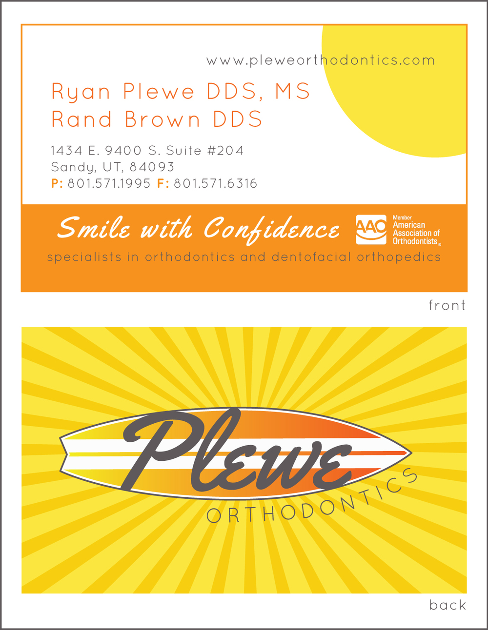Portfolio, Business Card Plewe Orthodontics.jpg