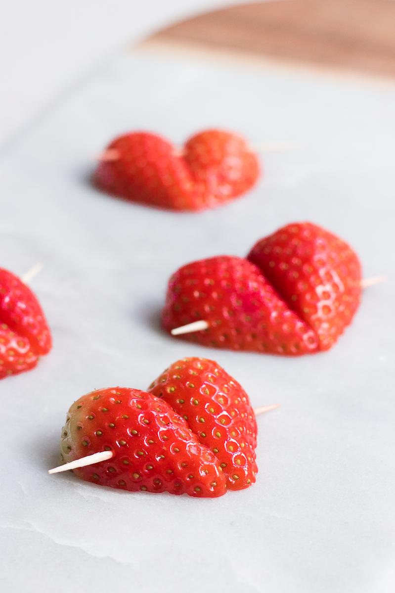 Valentines raw chocolate strawberry
