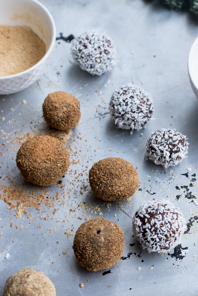 3 easy and quick superfood raw balls  chocolate