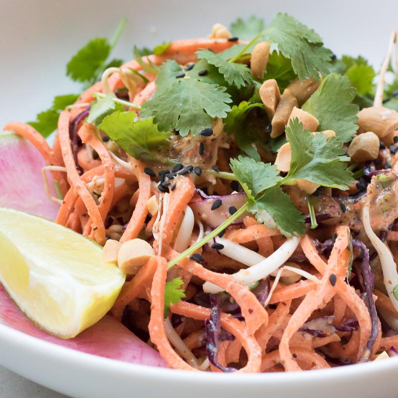 Raw sweet potato pad Thai Happy Health blog