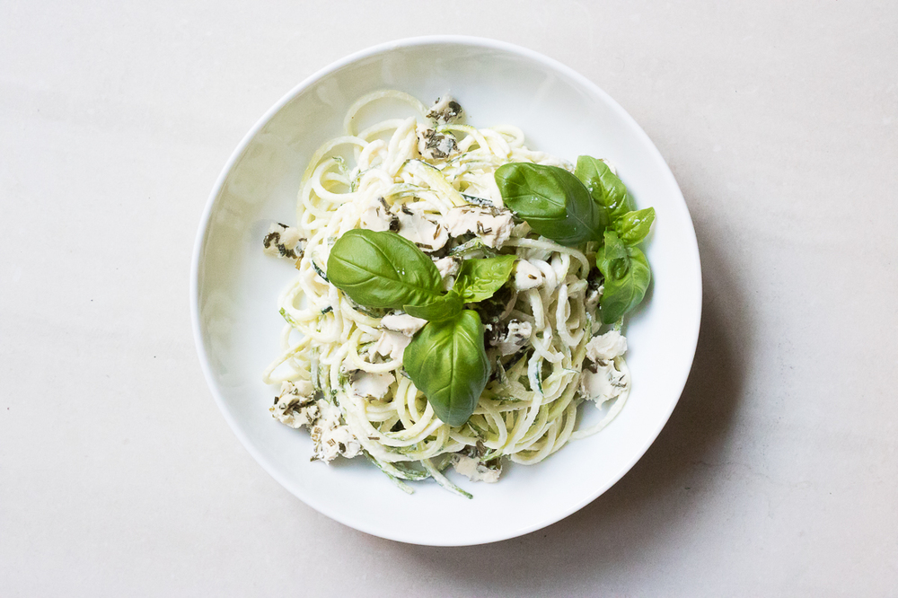 Raw cheezey zucchini pasta