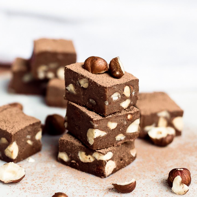 Hazelnut chocolate fudge raw