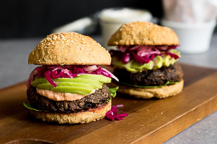 vegansk burgare recept