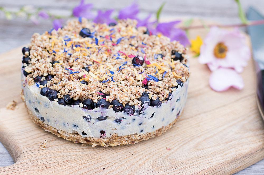 raw blåbärspaj