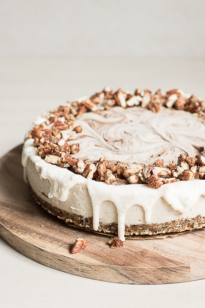 Raw cinnamon roll cake recipe