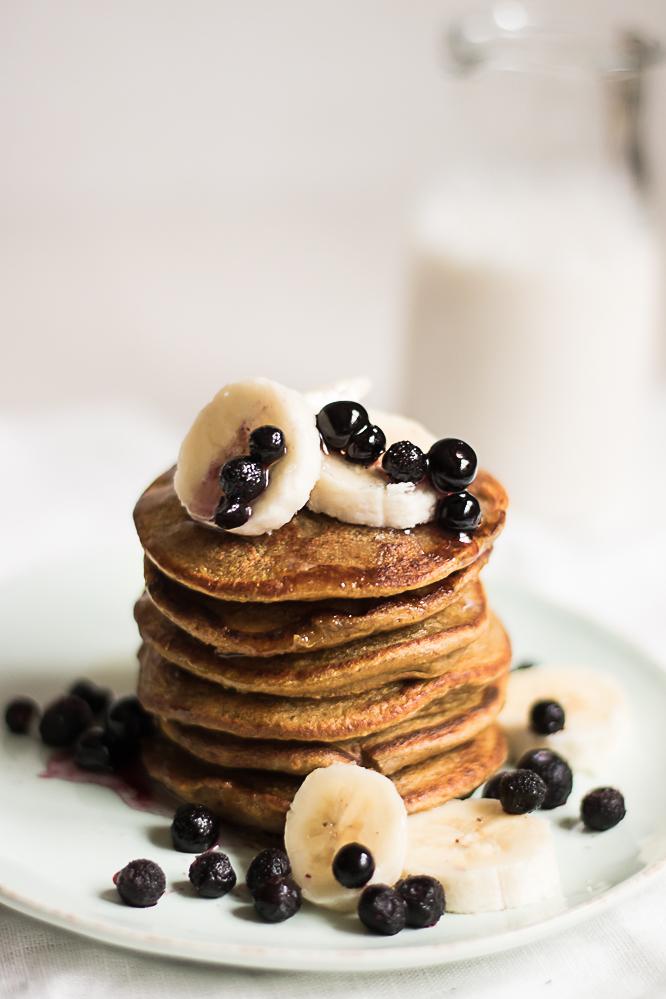 Blender pancakes vegan gluten free recipe
