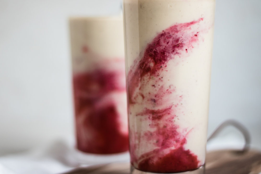 Peanut Butter & Jam smoothie
