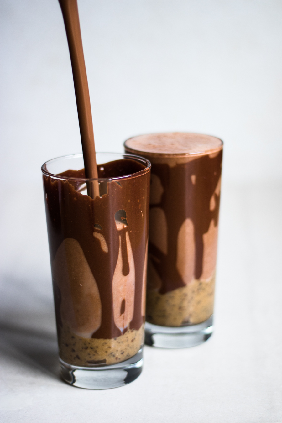 Raw chololate & salted caramel smoothie