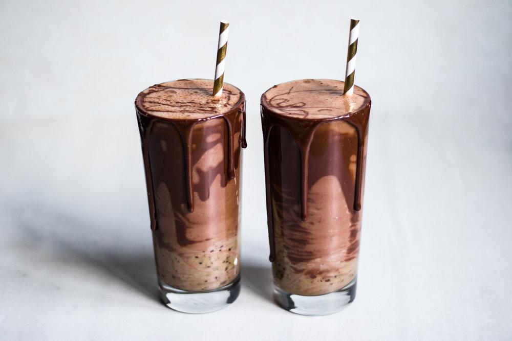 choklad och karamell smoothie recept