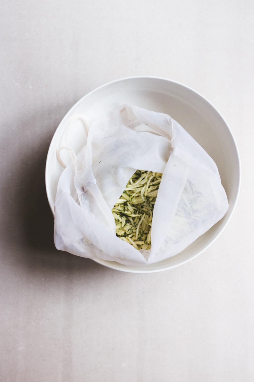 zucchinibiffar med citrus yoghurt (Vegan + GF)