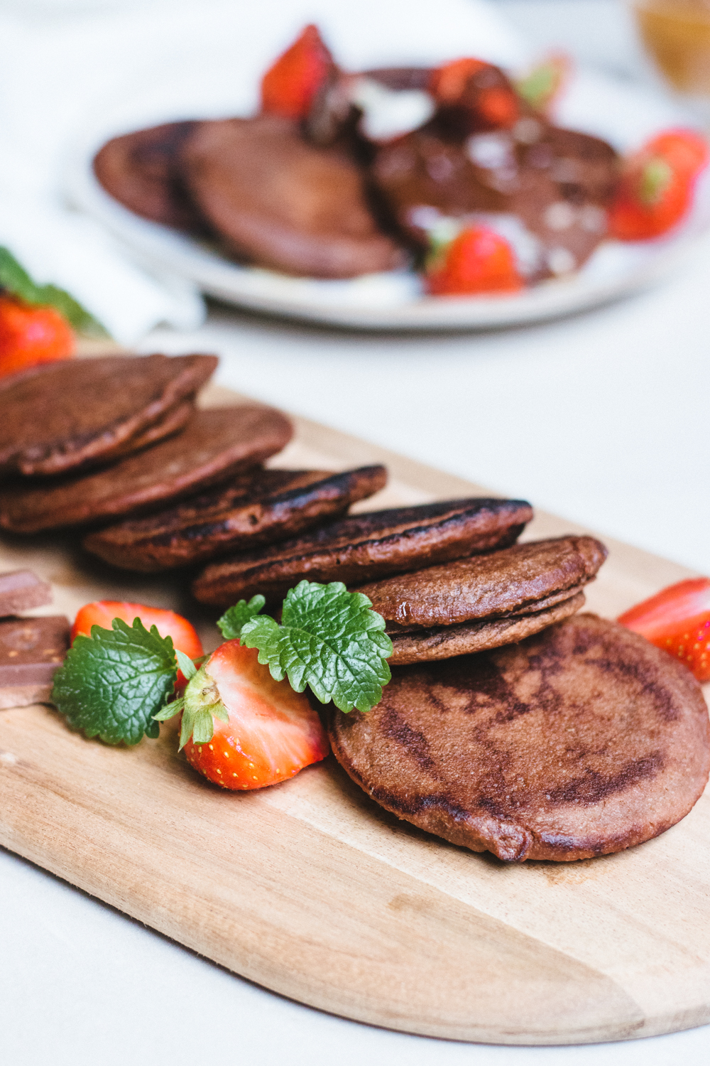 GF Vegan Chocolate Pancakes