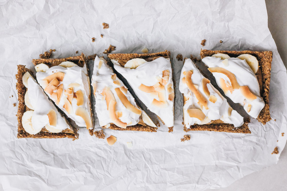 Grain free Vegan Banoffee cream pie