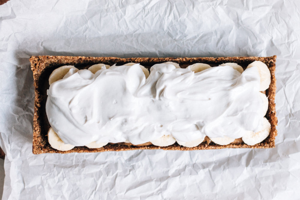 Vegansk banoffee cream pie