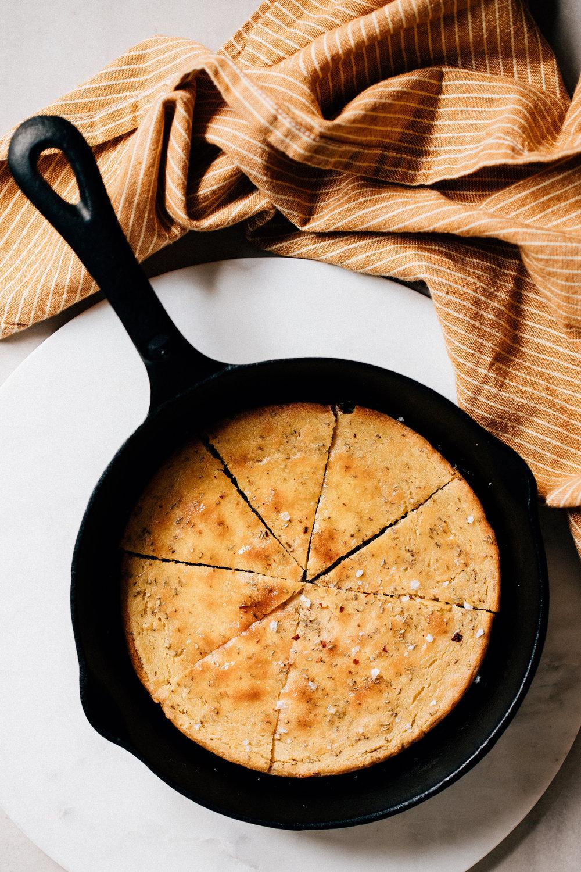 Tuscan chickpea flatbread