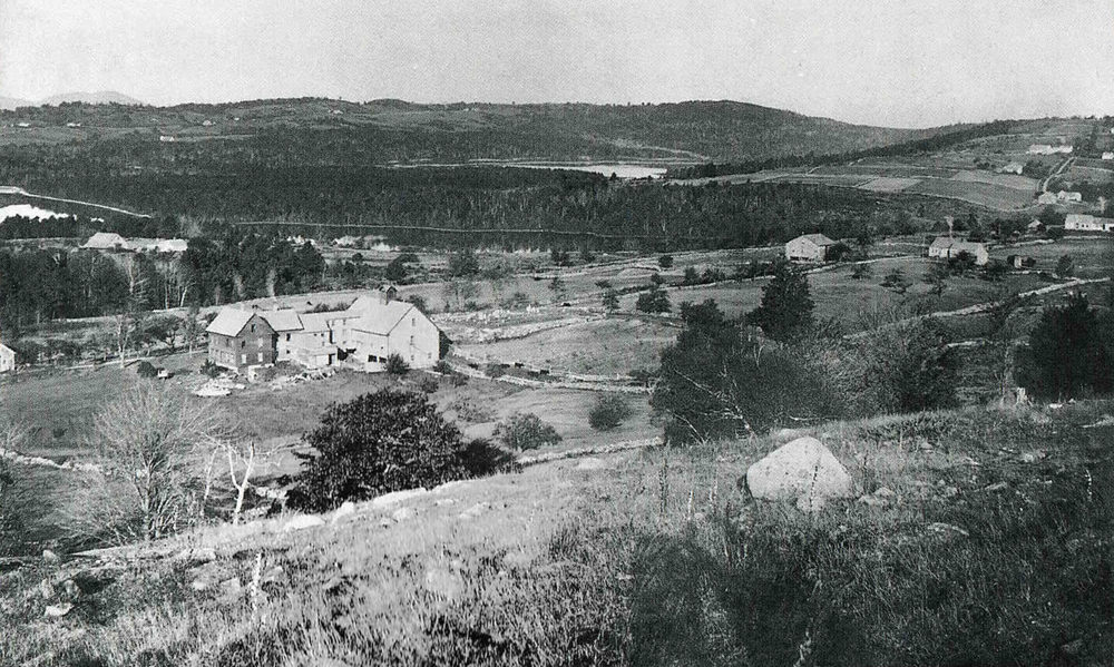 Haley Farm c. 1898 taken atop the mountain.