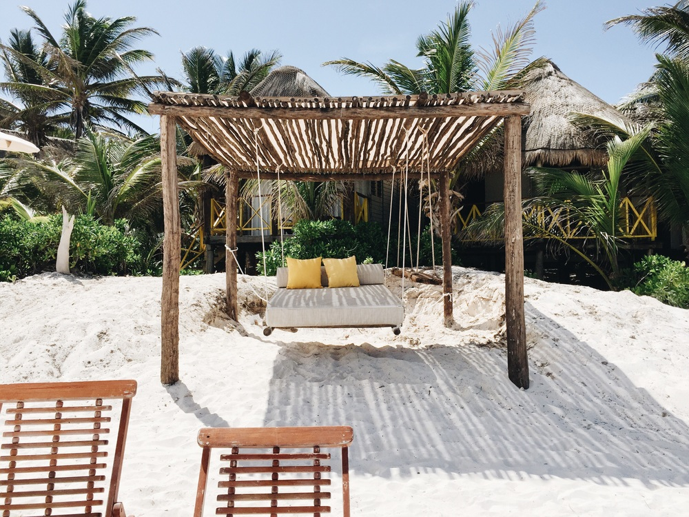 you bet we laid here most of our time in Tulum. The view of the ocean and that white sand was phenomenal