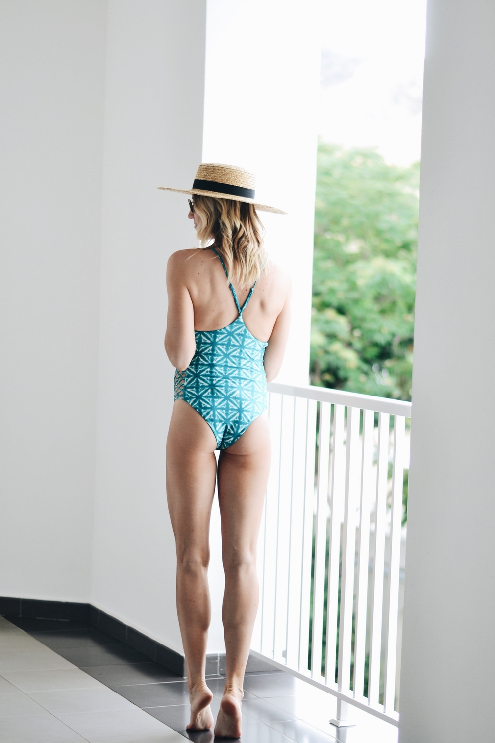 Swimsuit-AmuseSociety-Lackofcolor-Hat-Sunglasses-Rayban