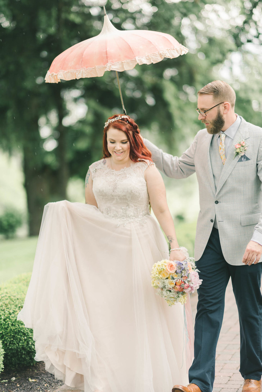 Vintage Bella Umbrella | Featured on Ruffled | Vintage Bella Umbrella Rentals | Elizabeth Fogarty Photography