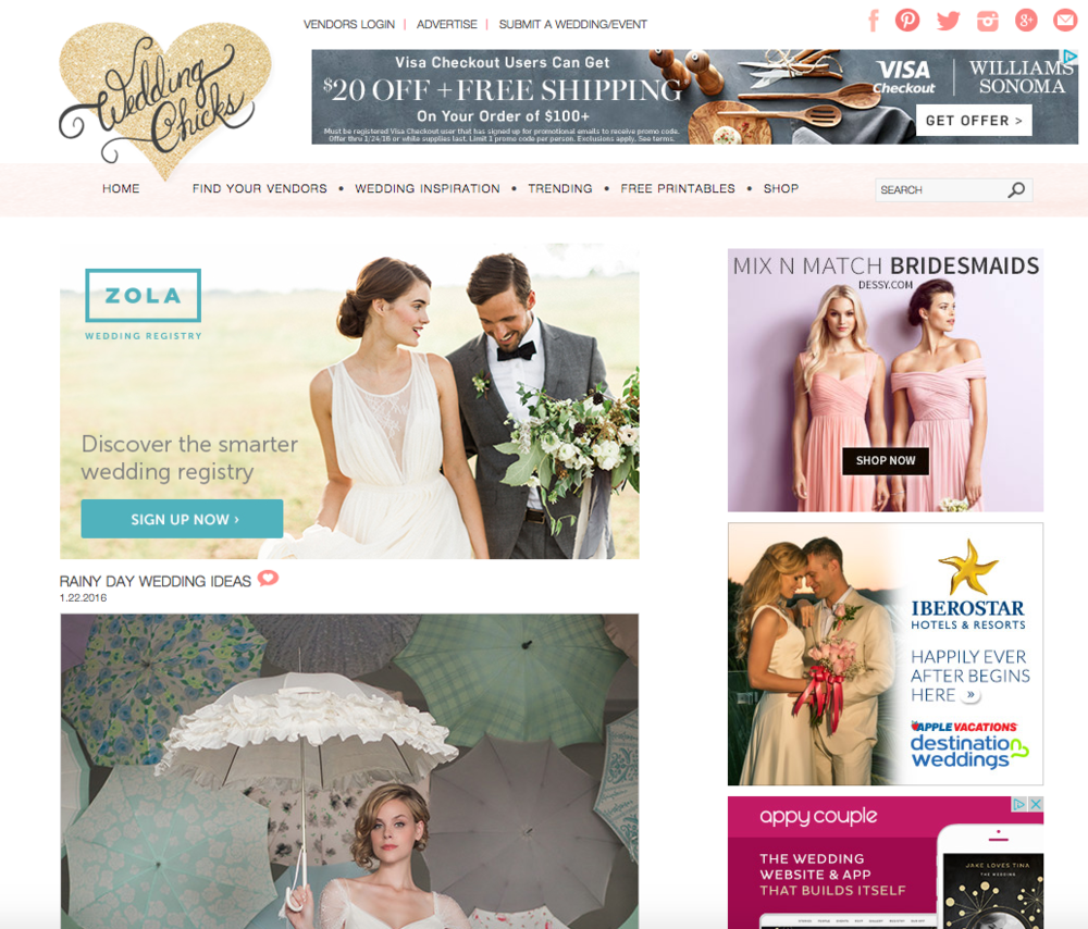 Bella Umbrella Featured on Wedding Chicks