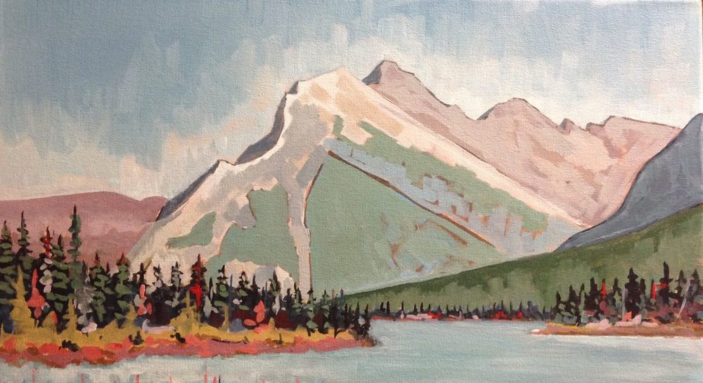 """late summer at mount rundle"""