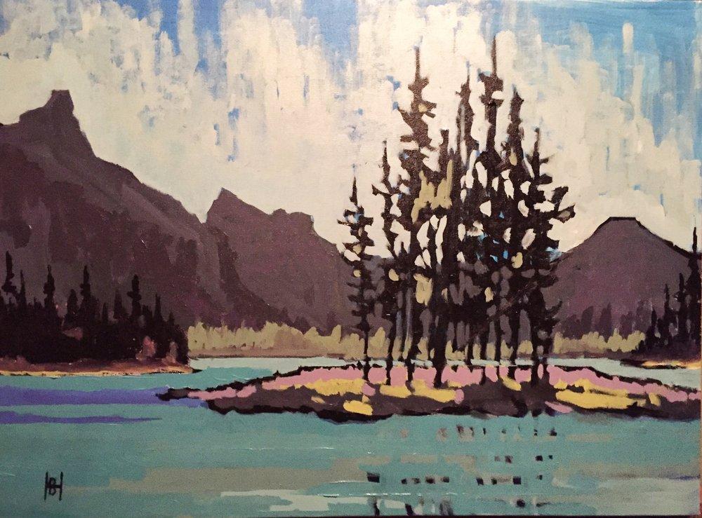 """Spirit Island, Maligne Lake"""