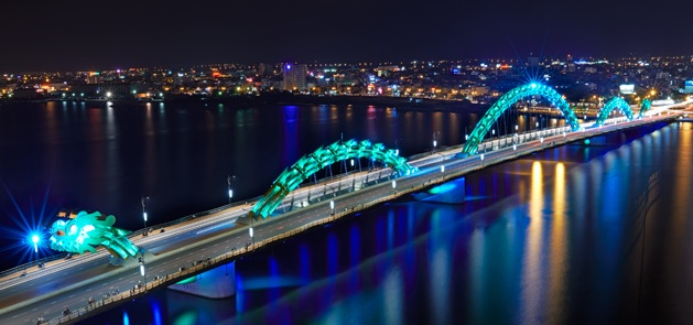 Click above to find our how light transformed the Da Nang bridge into a 24-hour landmark