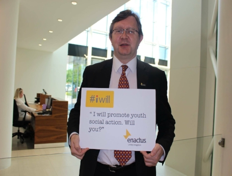 Enactus UK CEO pledges support for the #iwill campaign