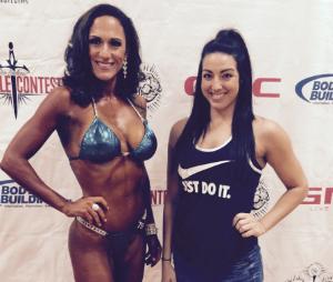 Owner/Trainer Kelly Johnson, with Bikini Prep Client,Josie.