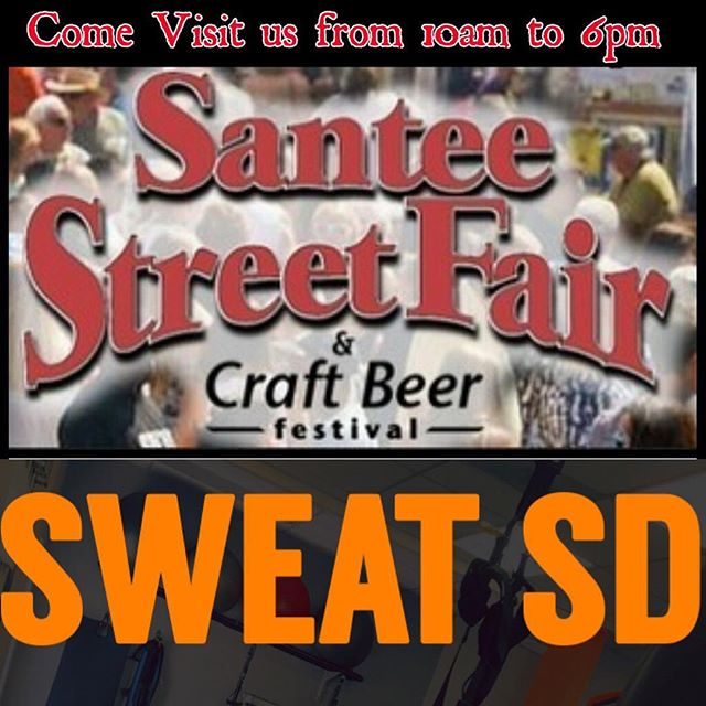 Come visit us tomorrow at the #santeestreetfairandcraftbeer (We are right next to the beer garden entry 😉) ENTER IN OUR RAFFLE FOR 1 YEAR FREE BOOTCAMP MEMBERSHIP! #sweatsd #lamesabootcamp #lamesagym #lamesatrainer #lamesafitness #freemembership #santeestreetfair #getleanin2017 #oneyearfreemembership