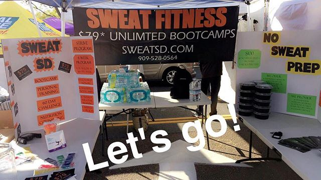 Come out and see us today! 10am-6pm! ENTER TO WIN! - FREE 1 YEAR MEMBERSHIP, A WEEK OF MEALS and other prizes!!! #sweatsd #sweatfam #sweatsaturday #lamesatrainer #lamesabootcamp #SUMMERSLIMDOWN #getleanin2017 #santeestreetfair #weightloss #freemembership #prizes #workoutsandiego #sdfit #sandiegofit #sandiegofitness