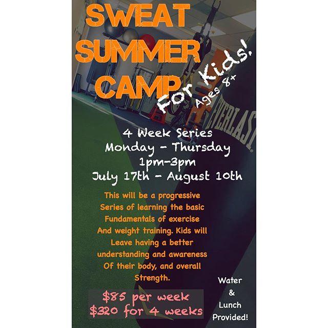 NEW SUMMER PROGRAM FOR KIDS!  Message or email for more info 💪🏽🏆 kellysweatsd@gmail.com #sweatsd #sweatfam #kidssummercamp #sdfitkids #sweatsummercampforkids