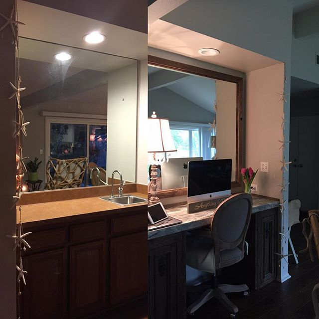 """Before""&""After"" Lady Boss Desk 👑  Nothing like a home office ~ to get werk done! ""Interior Design"" is my first love❤️and skill💫 - 20 years of transforming environments… Now ... 10 years of ""Coaching"" ~ I'm here to transform your ""interior"" design-  Bam! 💥Lady boss life coaching - changing your life transforming how you think & feel from the inside - out!  My jam is werking one on one transforming lives!✨ #lifecoach #ladyboss #interiorradiance💕#inpursuiteofmagic✨#followmetoretreat #magic #yoga #getyourglowon #belimitless #🦄"